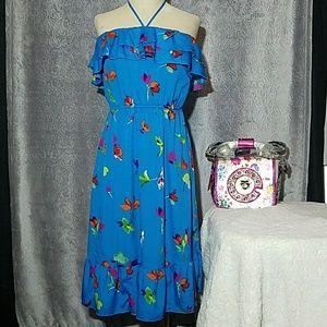 ON floral halter dress medium